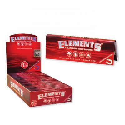 Elements Ultra Paper 1 1/4 Red (Slow Burn) 25CT/PACK