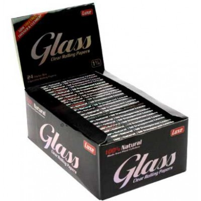 Glass Clear Rolling 11/4 Cigarette Rolling papers 24CT/PACK