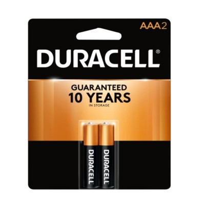 Duracell Batteries AAA2 Pack 12CT/Pack