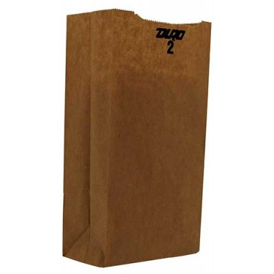 DURO Brown Paper Bags 2 LB 500CT/Pack
