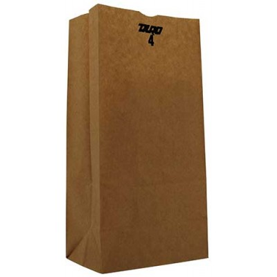 DURO Brown Paper Bags 4 LB 500CT/Pack