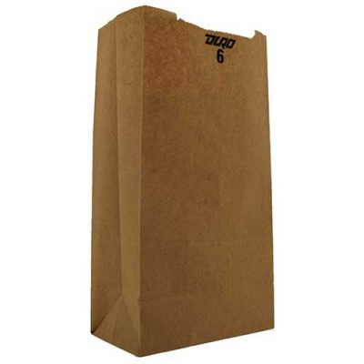 DURO Brown Paper Bags 6 LB 500CT/Pack