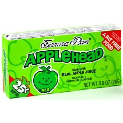 Chewy Lemonhead Apple .25 Candy 24CT/Pack
