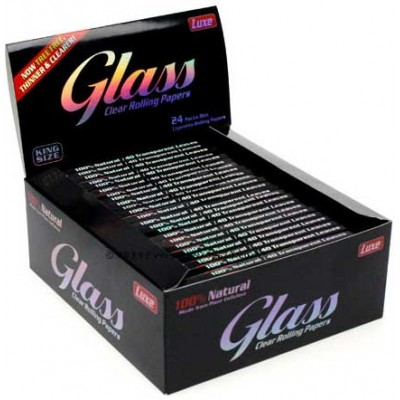 Glass Clear Cigarette Rolling Papers King size 24CT/PACK
