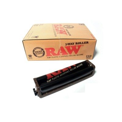 RAW 110MM CIGARETTE PLASTIC ADJUSTABLE ROLLERS 12CT/PACK