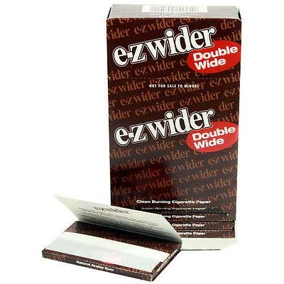 E-Z Wider Double Wide Cigarette Rolling papers 24CT/PACK