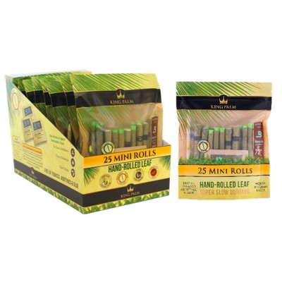 KING PALM MINI PRE-ROLLED POUCHES 8CT/PACK