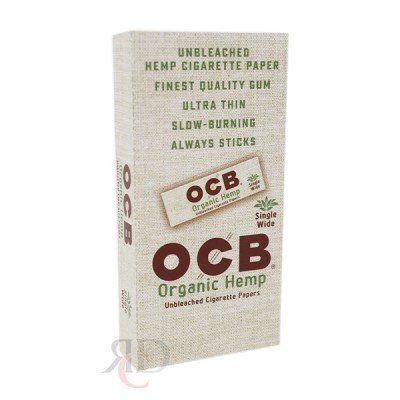 OCB ORGANIC HEMP SINGLE WIDE PAPER 24CT/PACK