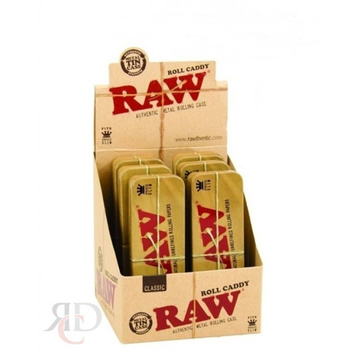 Storage Metal Box Stash Classic RAW Cone Caddy King Size Case 6 Containers