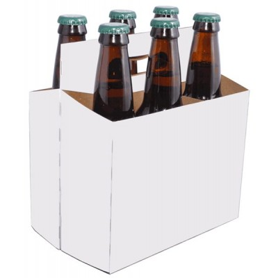 Beer bottle holder white