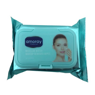 Amoray Facial Wet Wipes With Lid