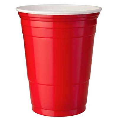 Plastic Cups Red 16 oz