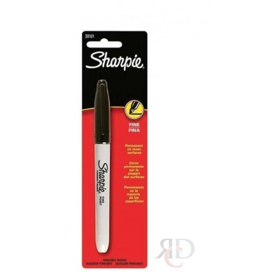 MARKER SHARPIE BLACK 6 CT/PACK