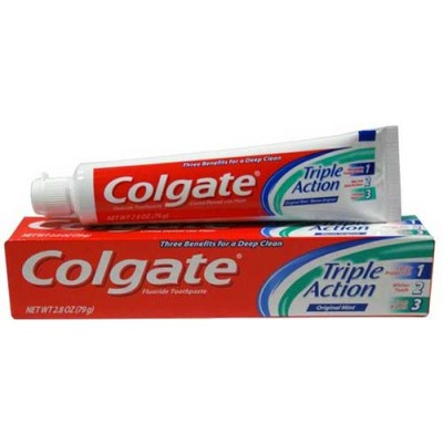 Colgate Triple Action Toothpaste 2.5 oz (Pack of 6)