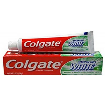 Colgate Sparkling White Toothpaste, Fluoride, Mint Zing, Gel - 2.8 oz (Pack of 6)