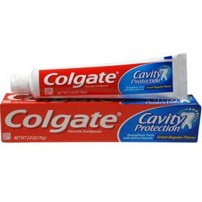 Colgate Cavity Protection Fluoride Toothpaste, tube 2.8 oz (Pack of 6)