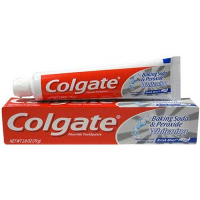 Colgate Baking Soda and Peroxide Whitening Toothpaste, 2.8 oz (Pack of 6)