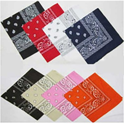 Colourful Pack of Paisley Patterned Bandanas Neck Scarfs, Head Scarfs 12CT/PACK