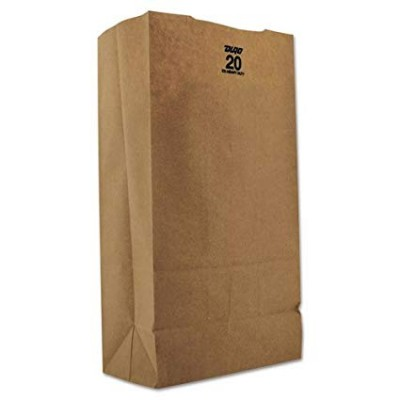 DURO BROWN PAPER BAG #20 20 LB 500CT/PACK