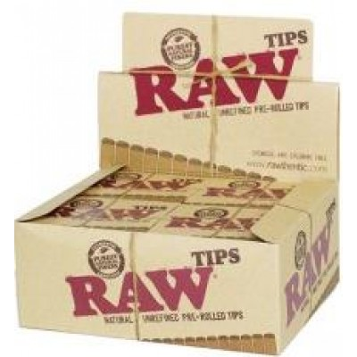 Raw Tips Unrefined Pre Rolled  20CT/PACK