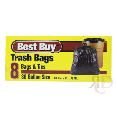 BEST BUY TRASH BAG 30 GAL - 8CT/PACK