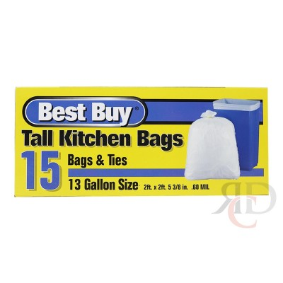 BEST BUY TRASH BAG 13 GAL 8CT/PACK