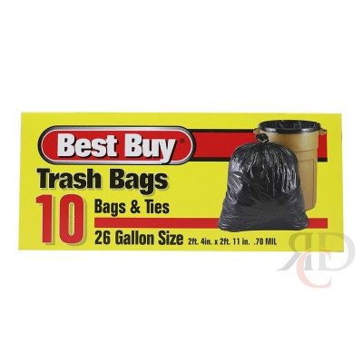 BEST BUY TRASH BAG 26 GAL 10CT/PACK