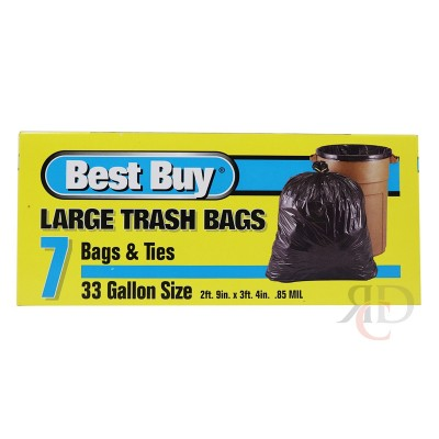 BEST BUY TRASH BAG 33 GAL 7CT/PACK