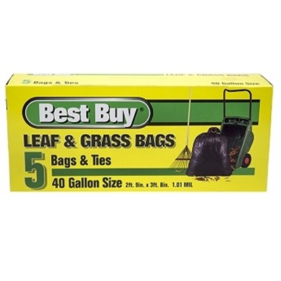 BEST BUY LEAF & GRASS BAG 40 GAL - 5CT/PACK