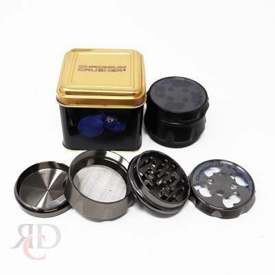 GRINDER CHROMIUM CRUSHER 2.5 CLEAR TOP W/TIN GRC1311-63mm