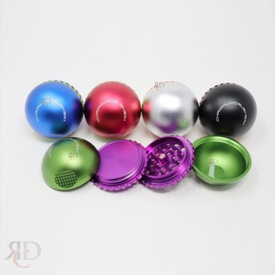 GRINDER CHROMIUM CHRUSHER 4 PART SPHERE 55MM GRC1317 1CT