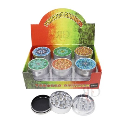 GRINDER 3 PART ALUMINIUM MANDALA DESIGN GRD4541 - 51MM 1CT