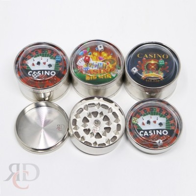 GRINDER 3 PART 50MM CASINO GRINDER WITH DICE GRD4589 1CT
