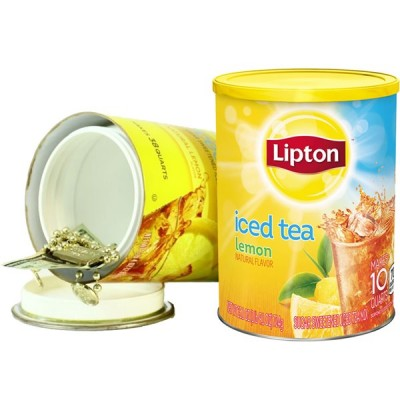 Safe Can Lipton Iced Tea Lemon Large 1CT