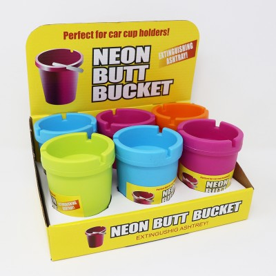 BUTT BUCKET NEON ASHTRAY DISPLAY