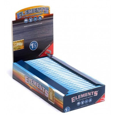 Elements Ultra 1 1/4 Cigarette Rolling papers 25CT/PACK