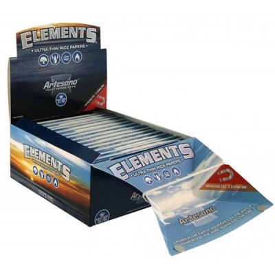 Elements Ultra Artesano king Size Slim Cigarette Rolling papers 15CT/PACK