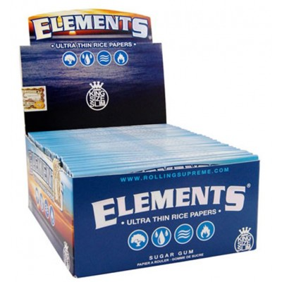 Elements Ultra king Size Slim Cigarette Rolling papers 50CT/PACK
