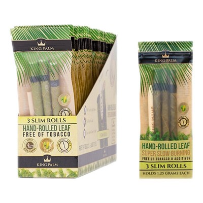 KING PALM 3 SUPER SLOW SLIM ROLL  24CT/PACK