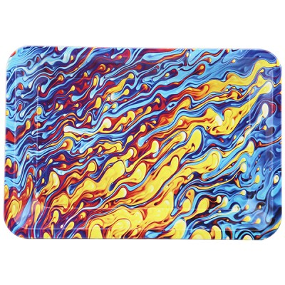 METAL TOBACCO TRAY LARGE-MULTI COLOR