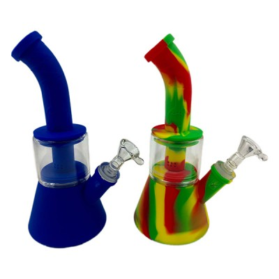 Silicon Water Pipe with glass Perculator WP233